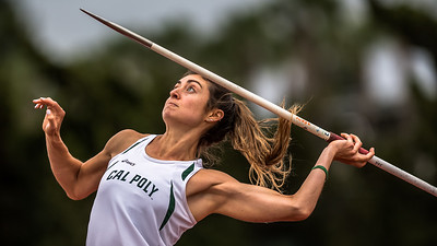 Cal Poly athlete competes in javelin event