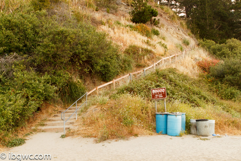 Stairway to beach. <br /> New Brighton State Park, <br /> Santa Cruz, CA, US