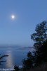 Moonset over Capitola<br /> New Brighton State Beach<br /> Santa Cruz, CA, US
