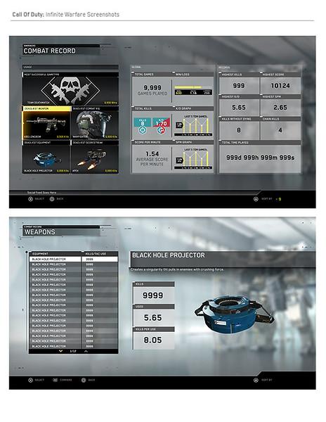 Multiplayer Combat Record Screens