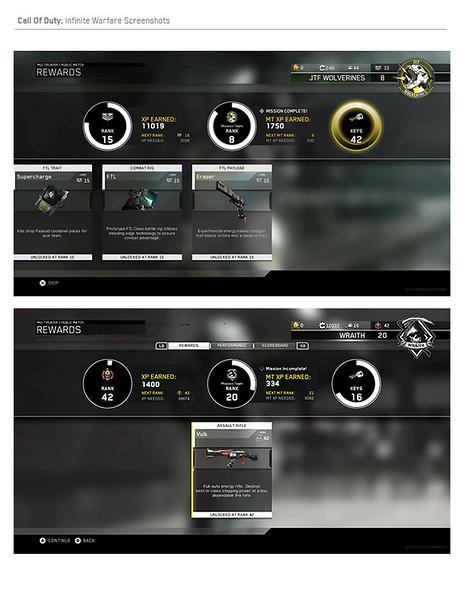 MP Reward Screen