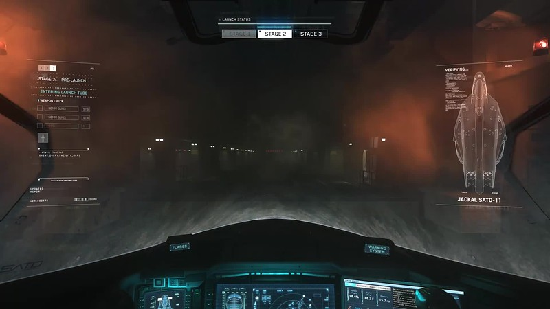 Jackal Launch Sequence Overlays, HUD, and Interior Screens