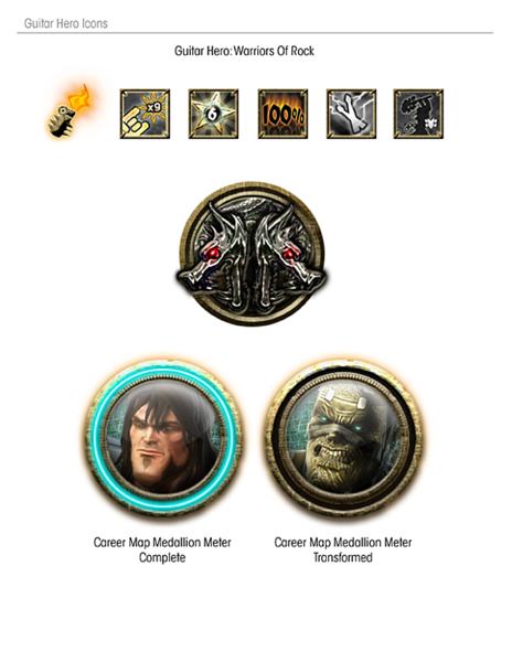 Icons used for Quest Mode in GH:WOR
