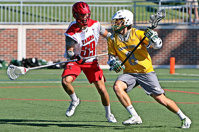 The University of Tampa hosts the Lacrosse Vs. Cancer NCAA D2 Showcase where they took on 2018 D2 runner up, St. Leo University in fall ball action.  October 28, 2018, University of Tampa, Tampa, FL