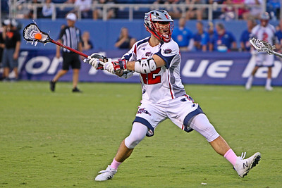 Boston Cannons Max Seibald scored two 2 point goals en route to a 15-9 win over the Florida Launch.  The Cornell great retired from the MLL at the conclusion of the 2018 season.  May 10, 2018, FAU Stadium, Boca Raton, FL