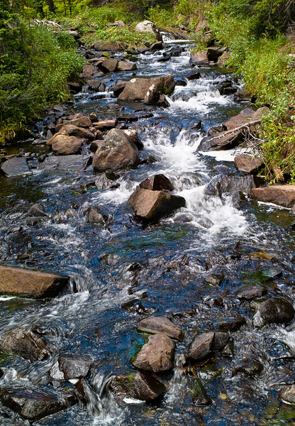 Rocky Stream: Hiking Mitchell Lake Trail to Blue Lake, Indian Peaks, Boulder County