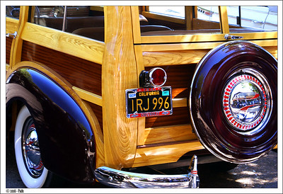 California Woodie in Solvang's old cars convention