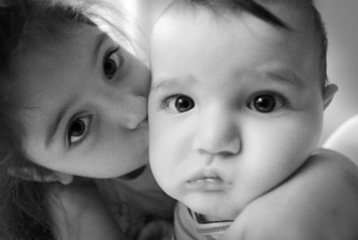 Sibling Kiss Eastlake, California - November 2008