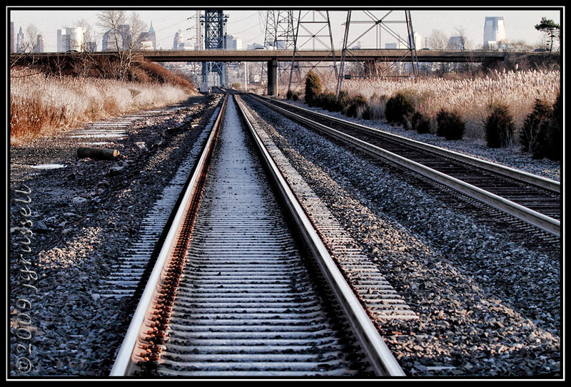 East down the tracks