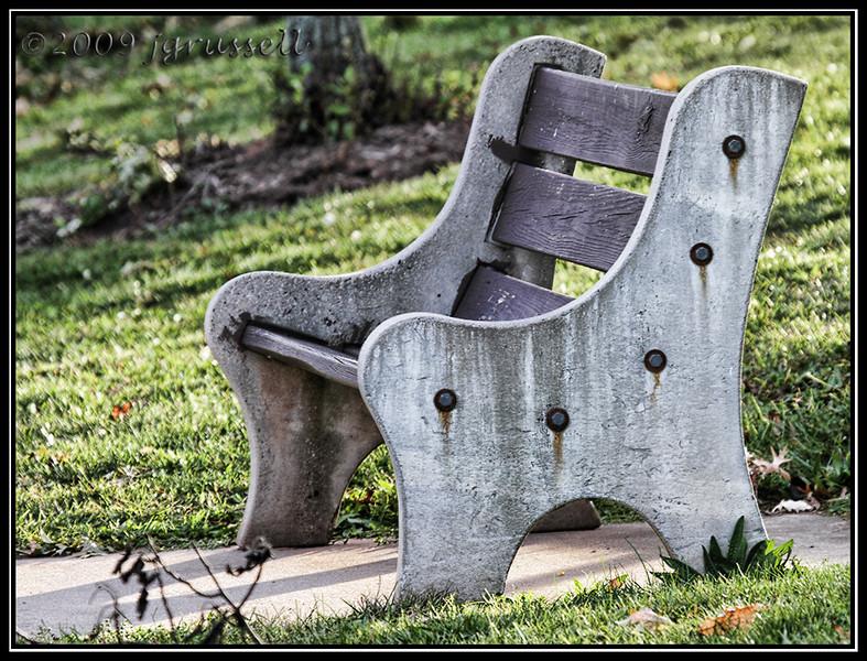 Park bench<br /> Roosevelt Park