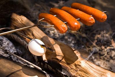 Eggs on skewer La Jolla Indian Reservation, Pauma Valley, Calif. - July 2009