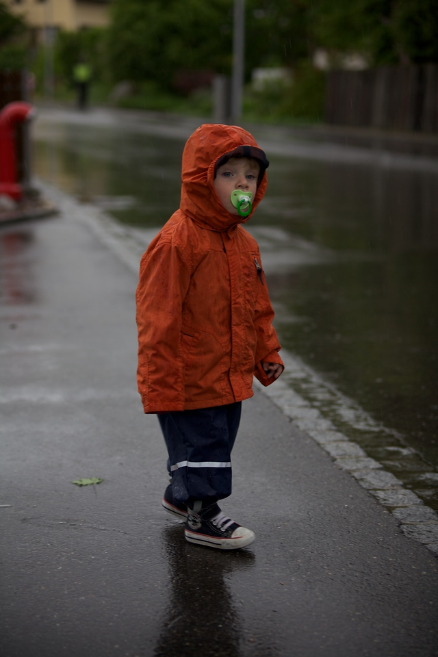 Week 21 - Rain Boy!  5D2 and OM 35-80/2.8 - We went for a walk in the rain, the little boys loved it, the big ones not so much.