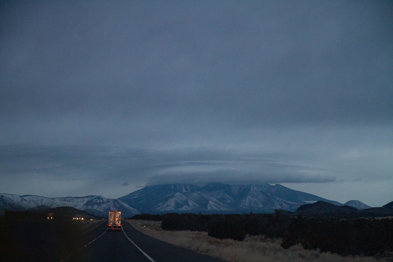 Approaching Flagstaff. Storm's a brewing.