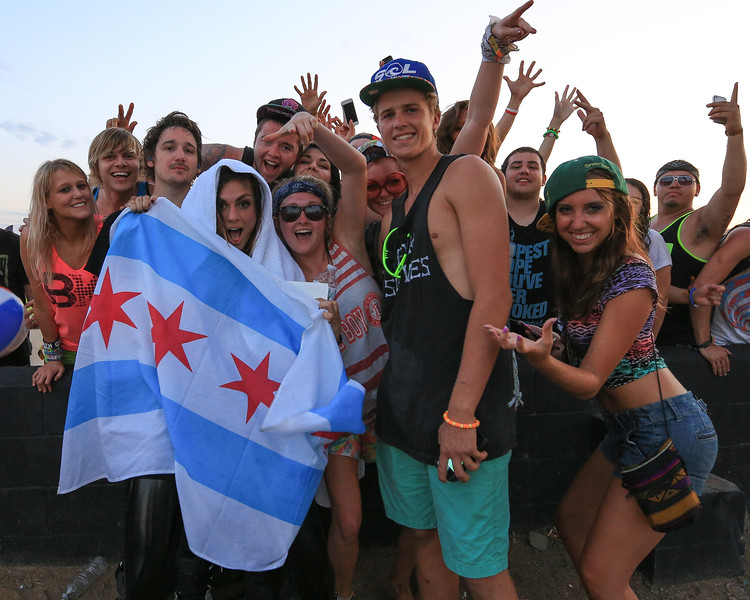 Krewella from Chicago, IL at Summer Set Music Festival with fans after their show.