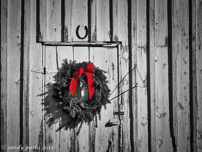 12-20-13: Wreath, in Spring Creek