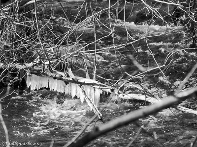 12-26-13: Dry River, after a bit of rain. And a cold snap.