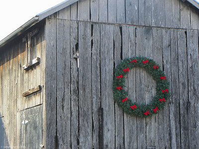 12-21-13: Wreath, Naked Creek Road
