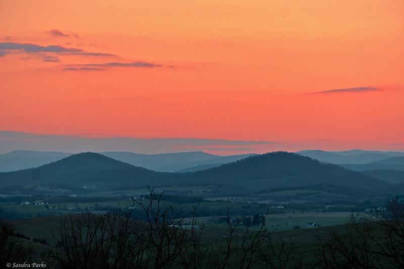 4-8-14: Sunset, in Daphna