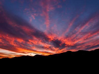 Dispersing Clouds Sierra Ancha Mountains