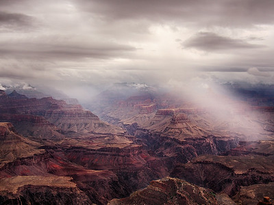 Morning storm over the Grand Canyon - August 3rd