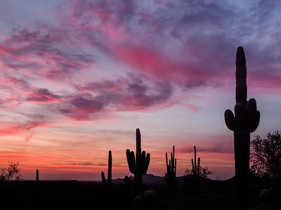 Peralta Basin Sunset Superstition Mountains
