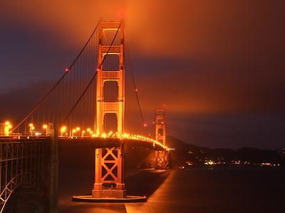 Nighttime Commute Golden Gate Bridge
