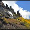 Cumbres & Toltec Steam Train Climbing a Mountain