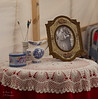Table inside the tent of a Georgia Relief member