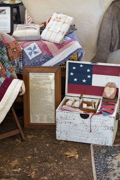Greargia Releif - sewing box and sewn clothing/linens