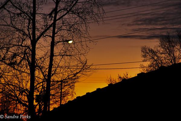 11-23-15:sunset under the bridge