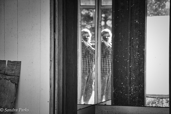 6-28-15: Seeing double. On Afton Mountain, at an abandoned hotel