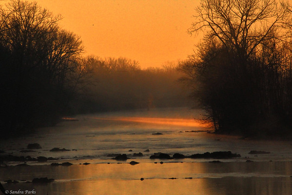 1-16-15: first light hitting the North River, at Wildwood
