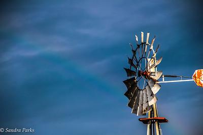 8-15-16: WIndmill. And a rainbow