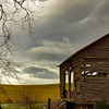 12-27-16: Storm clouds over the barn