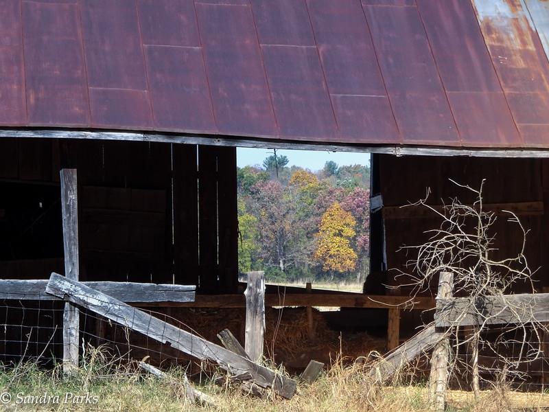 10-30-16: Fall through a Barn window