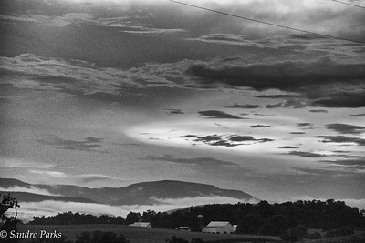 8-15-16: Mountains and clouds and random rays of sunshine -- why I love this Valley, reason #617.