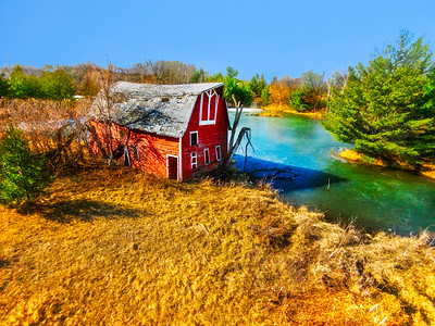 Red Barn and the Pond