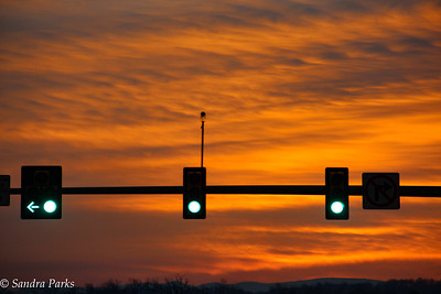 1-8-15: Sunrise at a stop light