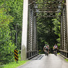5-30-16: Cyclists on the Stokesville Bridge