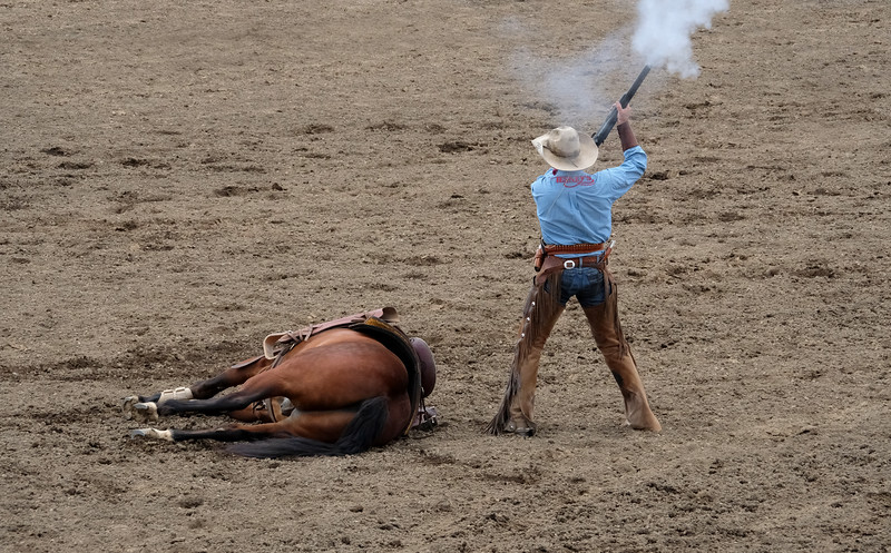 Bobby Kerr & Poncho. 2017 Sisters, Oregon Rodeo