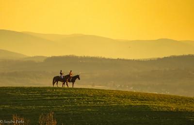 2-17-17: girls on horseback, Mole Hill