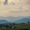 8-28-17:  shadows of the evening  creeping over the Alleghenies.
