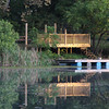 9-24-17:  Double dock, with a heron too