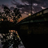 10-11-17: sunset under the bridge