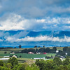 9-3-17: Clouds clearing over the Alleghenies, Cannery Woods