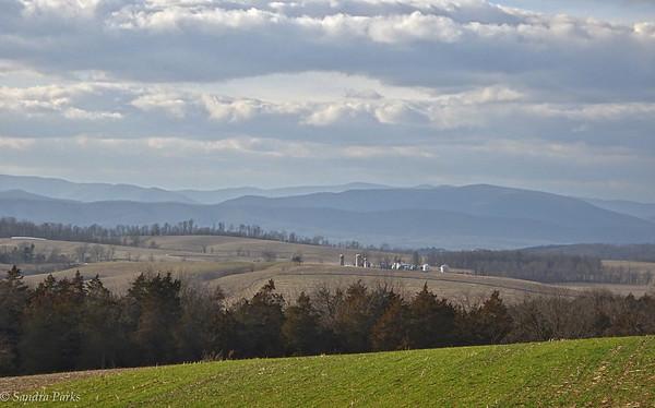 2-11-17: Still one of my favorite views of the Alleghenies, on Ridge Road