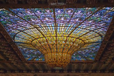 Soffitto Del Palau De La Musica Catalana