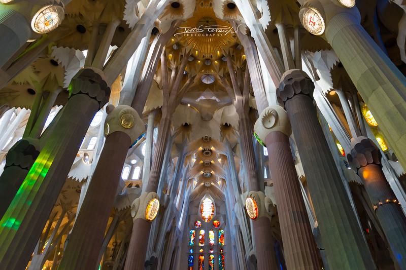Interno Della Sagrada Familia