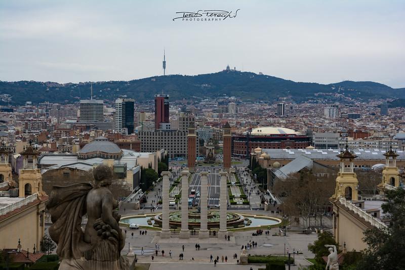Vista Dal Museo Nazionale D'Arte Della Catalogna