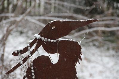 12-5-18: Heron in snow